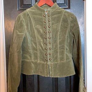 Velvet military style jacket by Forever 21 Large